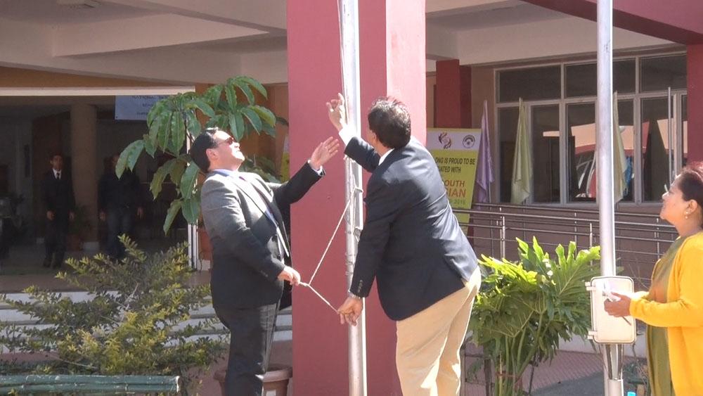 Flag hosting at Shillong