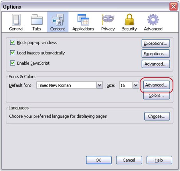 fonts-options